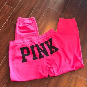 PINK size small cropped joggers pants 💖